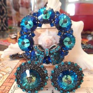 vintage Weiss Wreath set margarita crystal